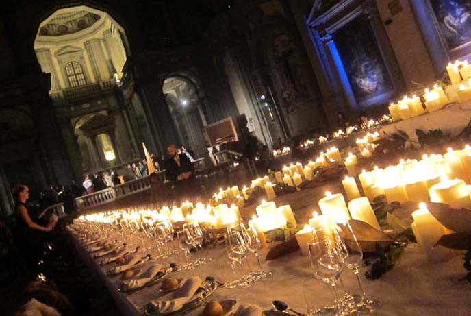 120117_church_dinner_candles_italian_cathedral_fashion_event_vip_halloween_makeup_8